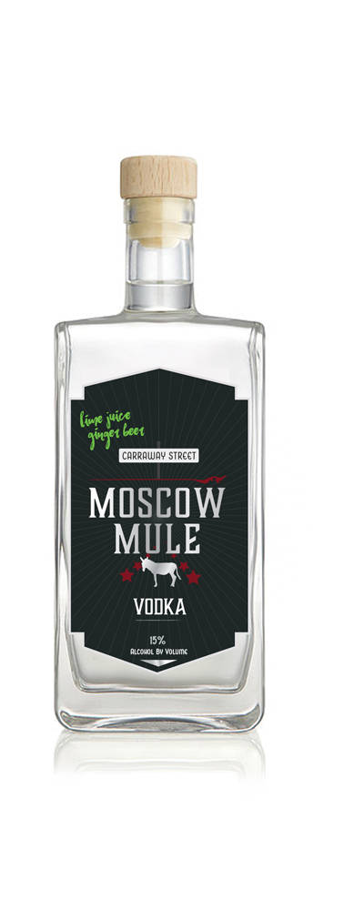 Moscow Mule bottle design