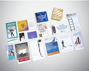 Print design samples - post cards, invites direct mail
