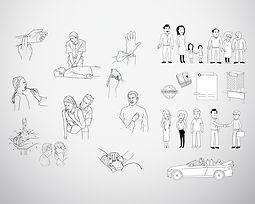 illustration, vector, line drawing