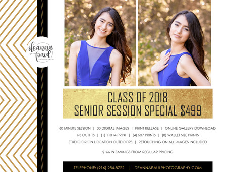 Roseville Senior Photo Session Special