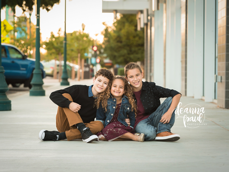 Family Photo Session Downtown Roseville
