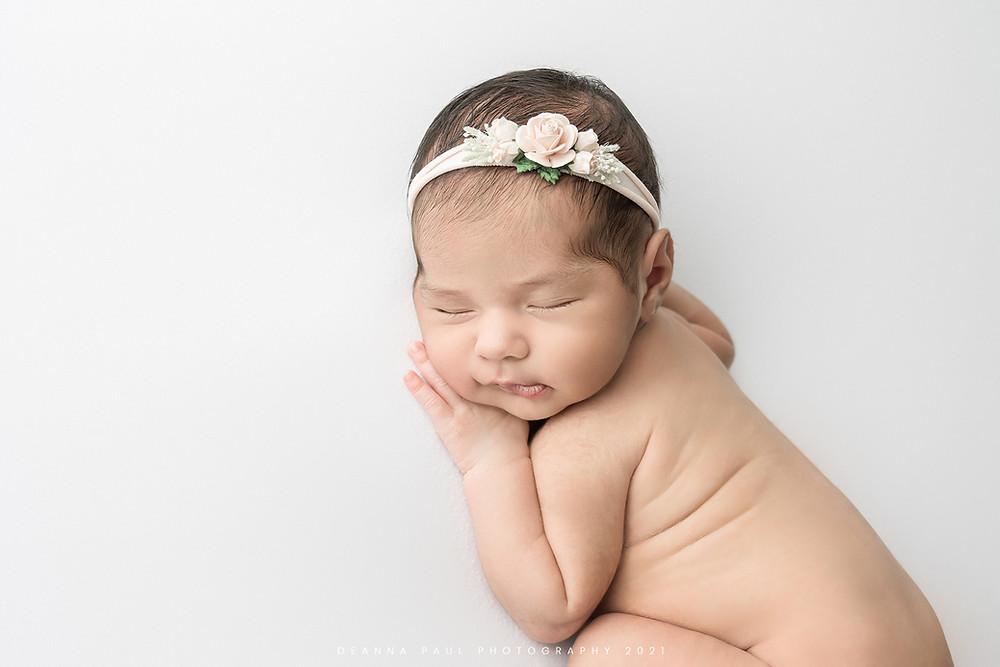 newborn baby girl face