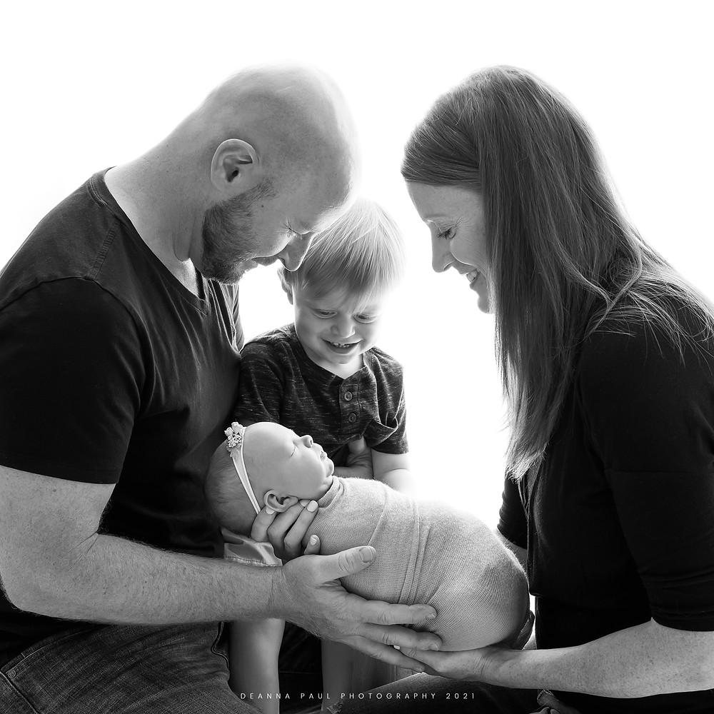 newborn family photo