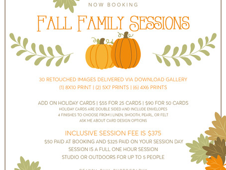 Roseville Family Photographer | Special Fall Family Sessions