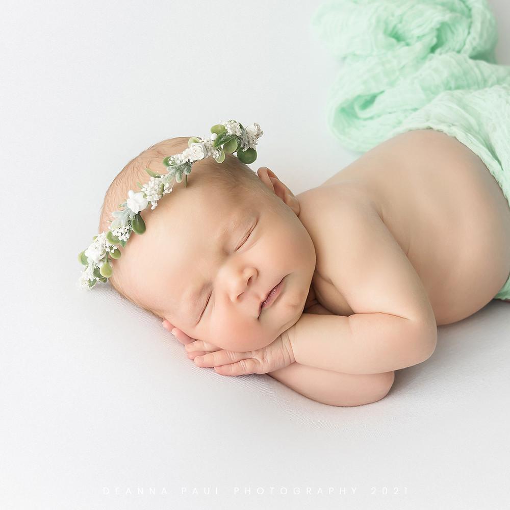newborn baby girl floral crown