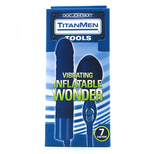Titanmen 7 Function Vibrating Inflatable Wonder in Blue