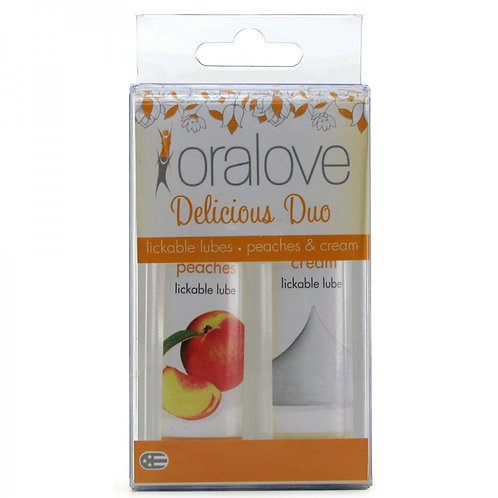 Oralove Delicious Duo Lickable Lubes in Peaches &