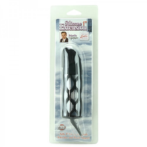 """Dr.Joel Silicone 1"""" Extension in Black"""
