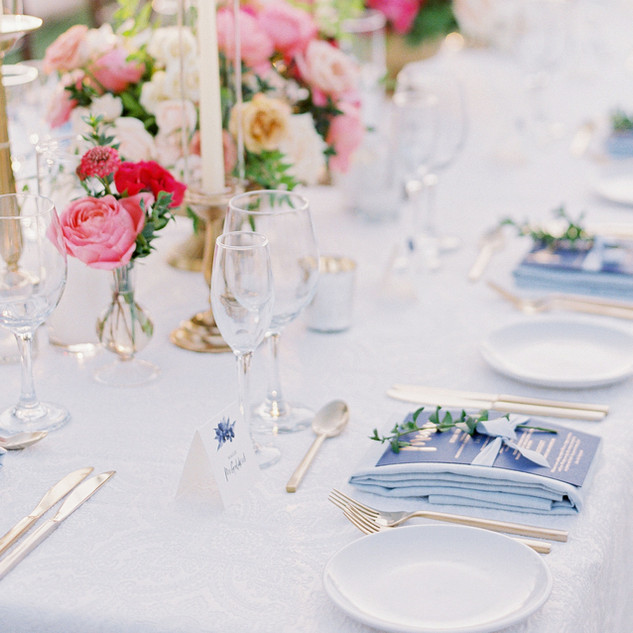 Classic & Elegant Navy Menu and Place Card