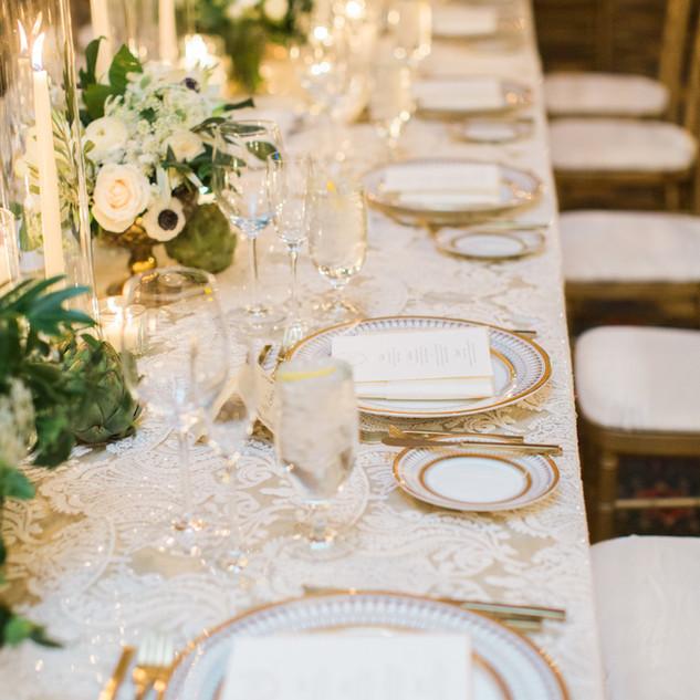 Elegant White & Gold Menus