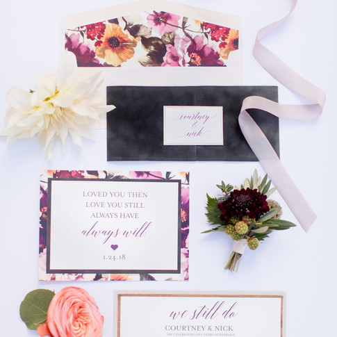 Bright Floral Vow Renewal Invitation