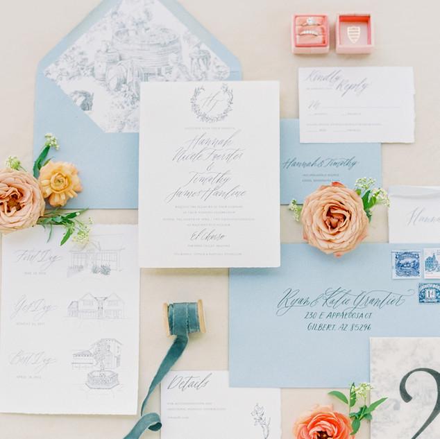 Delicate Blue Invitation Suite