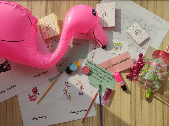 Flamingo Party Curious Kids