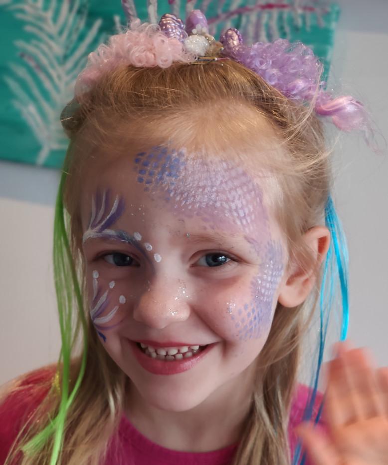 Kinderschminken: Meerjungfrau