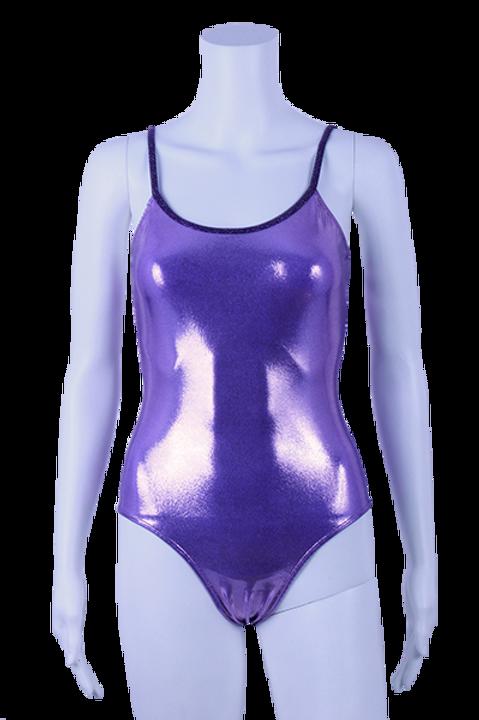 MAILLOT Paillette uni violet