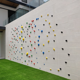 Bouldering wall in private villa