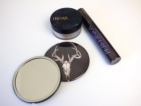 Deer Skull Pocket mirror
