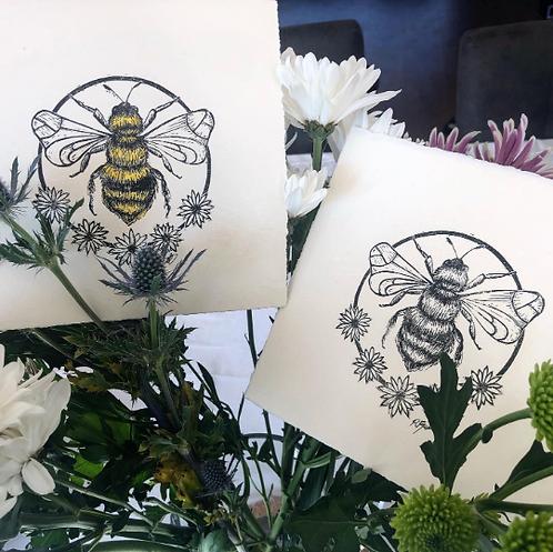 Bumblebee Lino Print