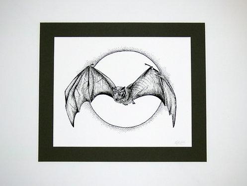 Fine Liner Bat Print