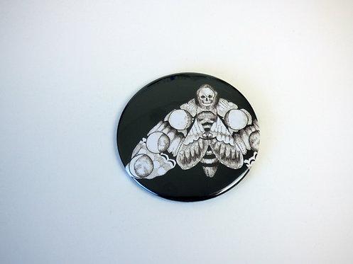 Luna cycle Death Head Hawk Moth Pocket Mirror