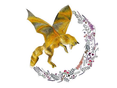 Flying Fox Original WaterColour Painting