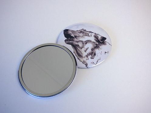 Howling Wolf Pocket Mirror