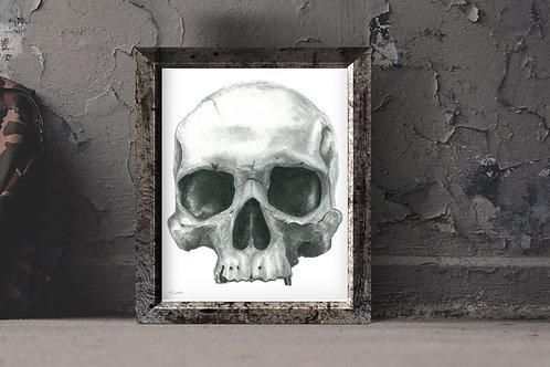 Charcoal Skull print