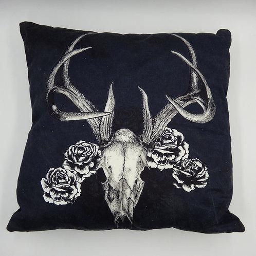 "Deer Skull 18"" Cushion"