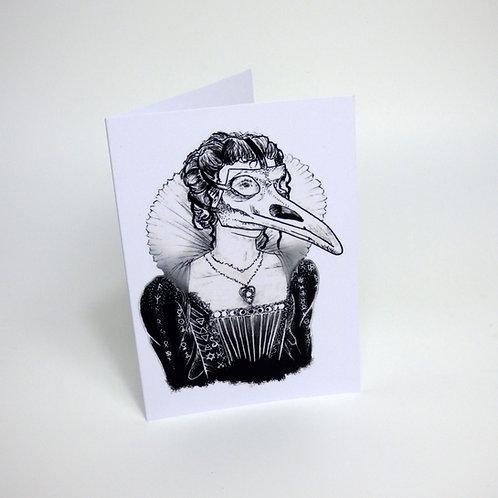 Plague Princess Greeting card