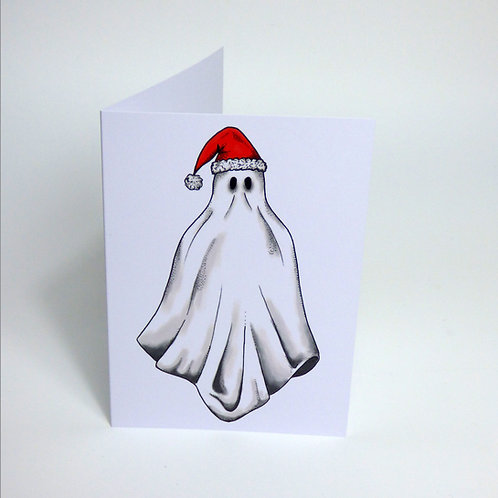 Christmas Ghost Greeting card