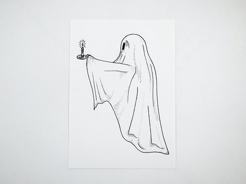 A5 Ghost with candle