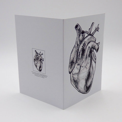 Anatomical heart alternative valentines card