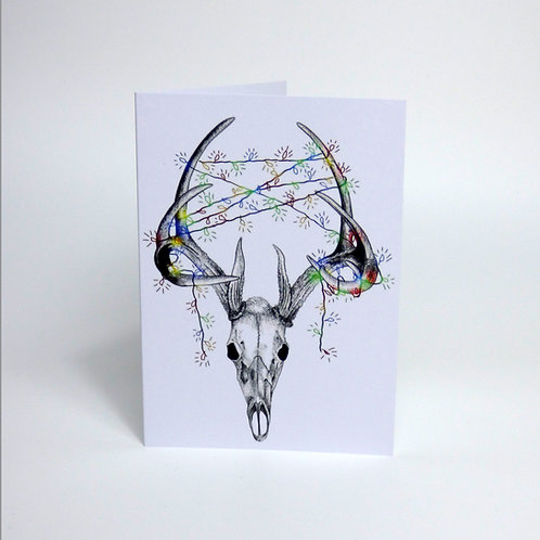 Deer skull Christmas Card