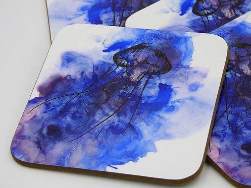 Jellyfish Coaster set of 4