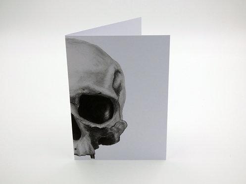 Charcoal Skull Greeting card
