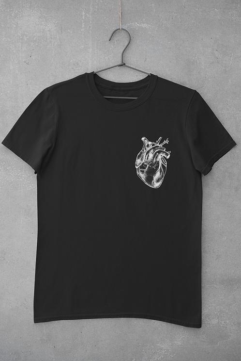 black Anatomical heart T-Shirt