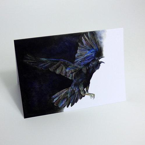 Raven Nights Greeting card