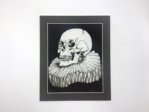 The Bard 8x10 print grey with mount
