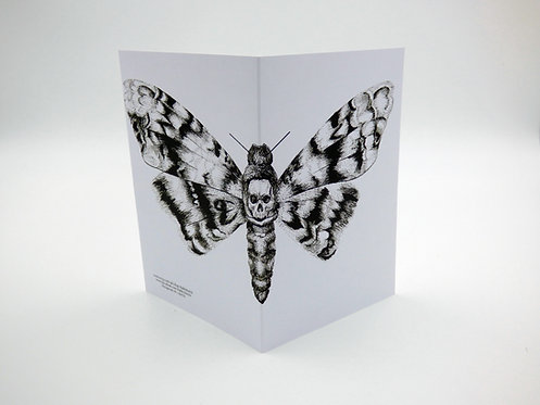Death's Head Hawkmoth Greeting Card