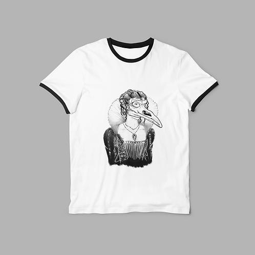 Plague Princess tattoo style Ringer T-shirt
