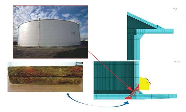 réservoir de stockage corrosion schéma de contrôle ultrasonore avancé