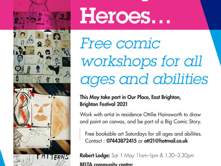 FREE Saturday Comic Workshops, all ages, all abilities. Book now!