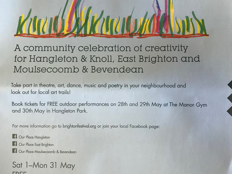 Celebrate 'Our Place' @ The Manor Gym. Free outdoor community shows 28/29 May