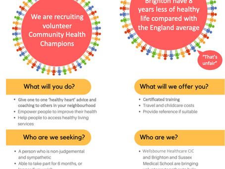 East Brighton Needs You! Be a Community Health Champion