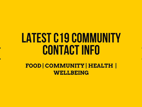Latest Community C19 Advice