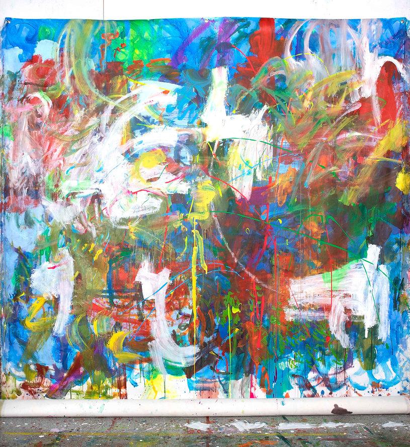 Zero painting-1(10.ARL.2021), acrylic on