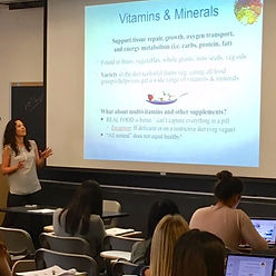 Performance sports nutrition lecture to the NYU Nutrition & Health class