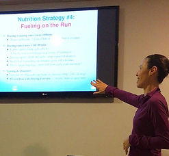 Sports Nutrition lecture to a running club team