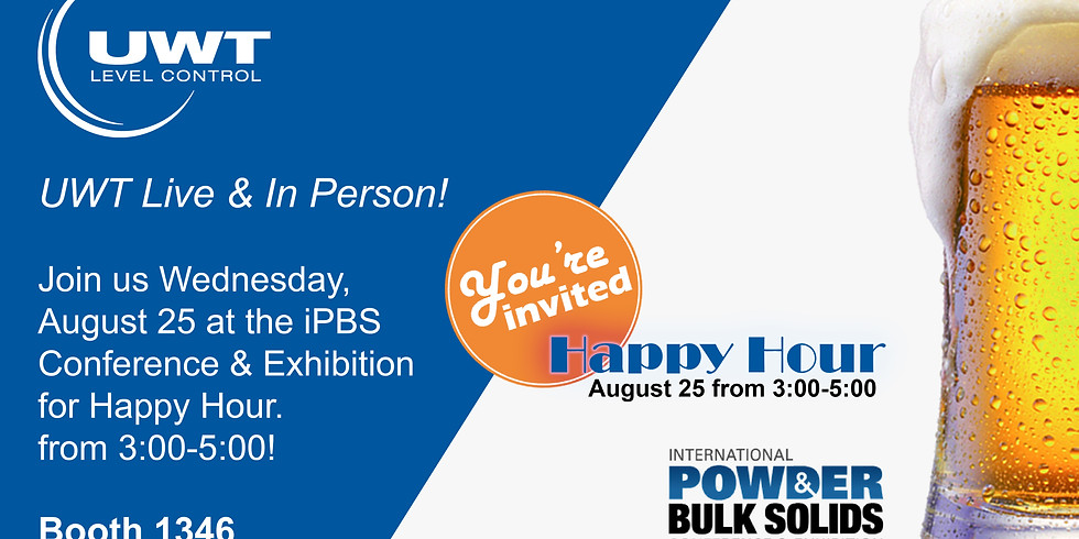 Happy Hour - iPBS UWT Booth 1346