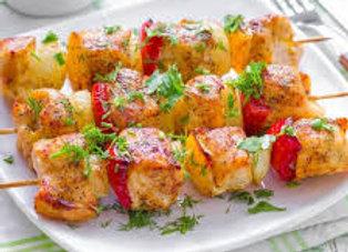 Brochettes poulet/ poivrons